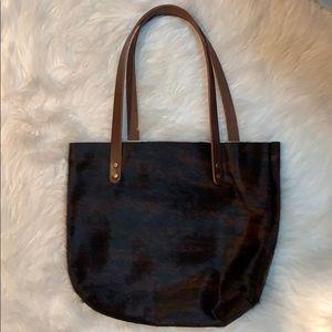 Handbags - NWOT blk/brown Cowhide tote Bag/purse made on ETSY